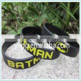 Custom Batman silicone rubber printed colour custom wristband bracelet band                                                                         Quality Choice