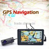 Newest High quality 4.3inch Android system 4X ZOOM GPS G-sensor wifi infrared night vision car dvr with dual-lens