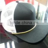 5 panel brim golden rope custom made white mesh trucker hats wholesale                                                                         Quality Choice