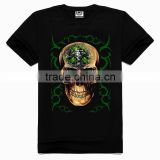 OEM 3d Printing Factory High quality old skull t-shirt, t shirts manufacturers china, full-size printing t-shirt