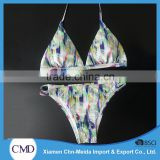 Hottie Print Triangle Halter Swimwear Women Bikini
