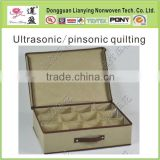 Ultrasonic quilting non woven fabric for furniture/bags/storage box/upholstery
