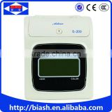 electronic card punch time record attendance machine