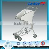 Hand Trolley 4 Wheel Aluminium Alloy personal portable retractable plastic shopping cart