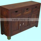wooden buffet,home furniture,dining room furniture,sideboards,side cabinet,sheesham wood furniture,indian wooden furniture