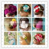 Baby girls cotton flower elastic hair band,elastic hair band,kids beautiful elastic headband for baby