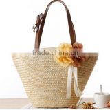 2016 popular new style and manufactory bag lady bag wholesale fashion straw beach bag