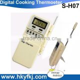 195 mm stainless steel probe sensor digital food cooking thermometer temperature monitor