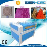 T-shirt or dress printing machine / laser textile engraver / clothing laser cutting machine 60w / 80w / 100w 4060