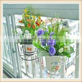 Metal flower pot stand, bicycle flower stand