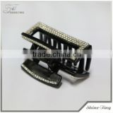 2013 wholesale plastic crystal hair claw clips with rhinestone for women