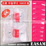 New ABS material Artificial half cover Nail Tip 500pcs                                                                         Quality Choice