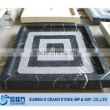 square black and white bathroom artificial stone shower tray