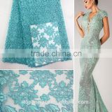 Top Fashion embroidered flower tulle lace beaded pearl tulle fabric french net lace