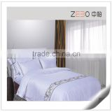 100% Cotton Embroidery Logo White Hotel Bed Linen Custom Hotel Bed Sheets