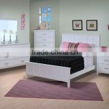 Santa Barbara Panel White Bed, Panel head White Bed, Panel headboard White Bed,
