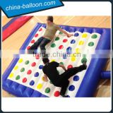 blue color small inflatable twister game/ inflatable entanglement game for adult