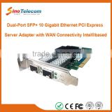 Sino-Telecom Dual-Port SFP+ 10G Ethernet PCI Express Network Adapter Card with WAN Connectivity Intel based