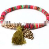 Wholesale Baby Tassel Gold Charm Owl Bangle Bracelets