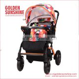 High Landscape Stroller| Baby Trolley | Pram | Carriage | Pushchair With Seat Cushion