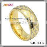 IP artificial GOLD tungsten thin gold ring
