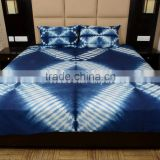 Indian Cotton Hand Dyed Shibori Bedspread Ethnic Tie Dye Bedding With Two Pillow Covers Boho Throw