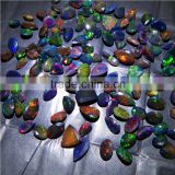 BLACK ETHIOPIAN OPAL FACETED NICE RAINBOW FIRE QUALITY LOT
