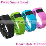 2016 New JW86 Bluetooth 4.0 Wireless Heart Rate Smart Bracelet Sport Fitness Wristband Similar to Fit bit Charge Hr Track Pulse