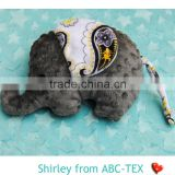 MOQ 30pcs 2015 New Fashion Baby Minky Stuff Toy Elephant Look For Baby Playing STOY15092201