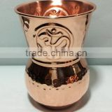 Yoga Cup OM Embossed made of Pure Solid Copper