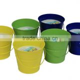 18 oz.Citronella Candle In Painted Metal Bucket