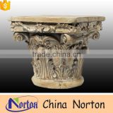 architectural marble carving wall cap stone wholesale NTMF-CP024Y