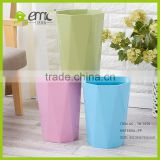 New design plastic trash bin, Plastic PP Decorative Round Trash Bin Waste Bin for Household