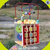 2017 New design funny children wooden beads toy W11B090