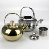1L stainless steel copper kettles sale hot water custom tea kettles