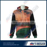 Customized CVC Fleece zip Hoodies athletic oversize pullover sweatshirts gym league Hooded Sweater