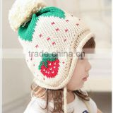 New Fashion Hot Selling Unisex Winter Warm Crochet Baby Hats Baby Cap Sweater Infant Hat with Earflaps