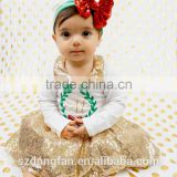 Baby Girls Christmas Outfits Stana Baby Toddlers Sequins Collar Tops And Skirt Sets Infant Girls Personalized Outfit