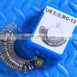 US 0-13 Metal Finger Ring Sizer Ring Measuring Gauge Jeweler Sizing Tool Silver Gold Jewelry Making Tool