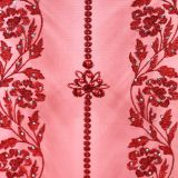 3D Floral Polyester Embroidered Lace Fabric For Apparel Home Decorating