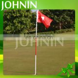 Hot selling good quality custom polyester printing sport green mini golf flags