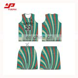 Wholesale sports clothing custom printed 100% Polyester quick dry basketball jersey black color