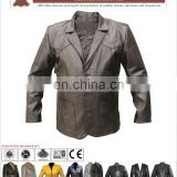 Men Leather Coat, Men Long Leather Coat, HLI New leather men coat