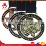 US Custom Wrestling Champion Metal for Rookie State