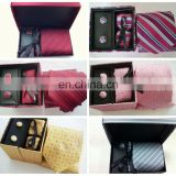 Classical Pasley Design Silk Ties Handkerchief Cufflinks Mens Gifts Sets