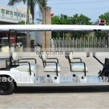 New arrival: Cheap electric sightseeing cars for sale, 12 seater sightseeing bus with rear seat kit or rear cargo box