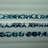 London Blue topaz oval Loose Calibrated Briolettes Faceted cut