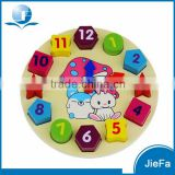 Cartoon Rabbit Digital Clock Shapes Matching Wood Animal Toy                                                                         Quality Choice