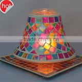 red pink mosaic glass candle holder containers for candle