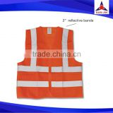 Hot selling custom logo multi-functional pockets reflective vest reflective clothing reflective safety vest